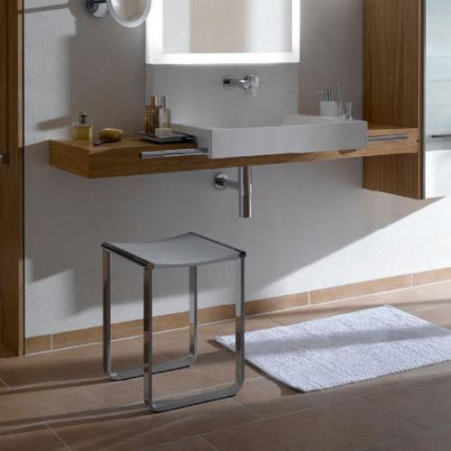 sgabello da doccia in alluminio / in metallo cromato / a slitta