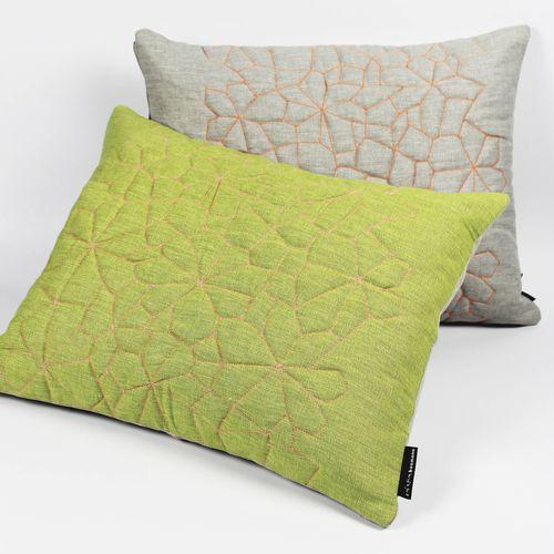 cuscino rettangolare / motivo geometrico / in cotone / in lino