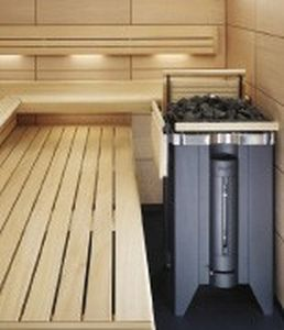 stufa elettrica / moderna / in metallo / per sauna