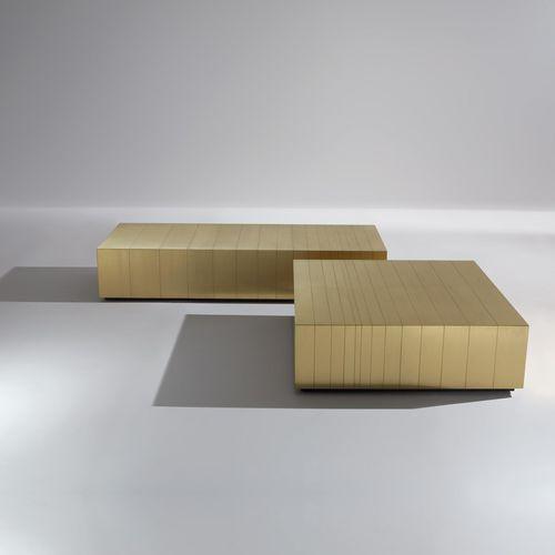 Tavolino basso moderno / in acciaio / in rame / in ottone ST 32-34 M by Bartoli Design LAURAMERONI