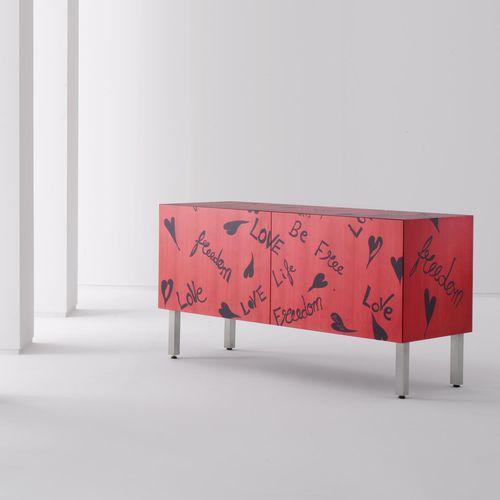 Credenza con piedi alti / moderna / in legno / in legno dipinto FREEDOM by Romeo Gigli   LAURAMERONI