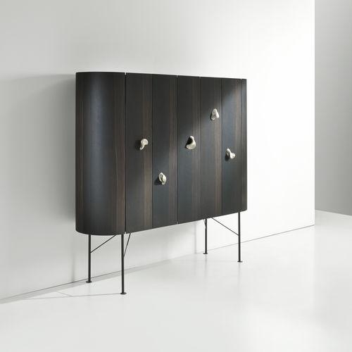 Credenza con piedi alti / moderna / in legno / con ripiano COLLECTIONIST by Bartoli Design LAURAMERONI