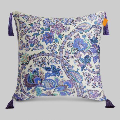cuscino quadrato / motivo floreale / in lino / in cotone
