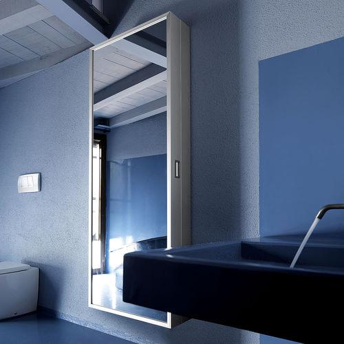 mobile da ingresso moderno / a muro / in metallo / con specchio