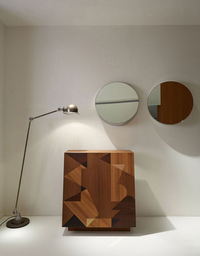 Specchio a muro / moderno / rotondo / in acciaio inox BELLEVUE by Soda designers Porro