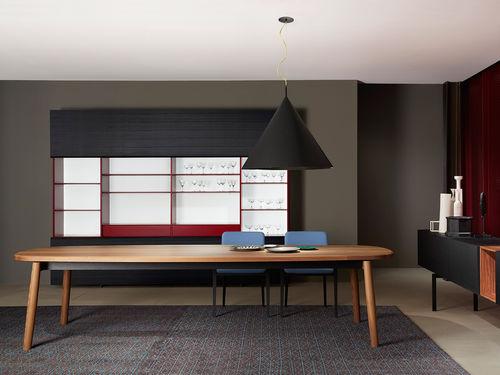 tavolo moderno / in legno massiccio / in frassino / ovale