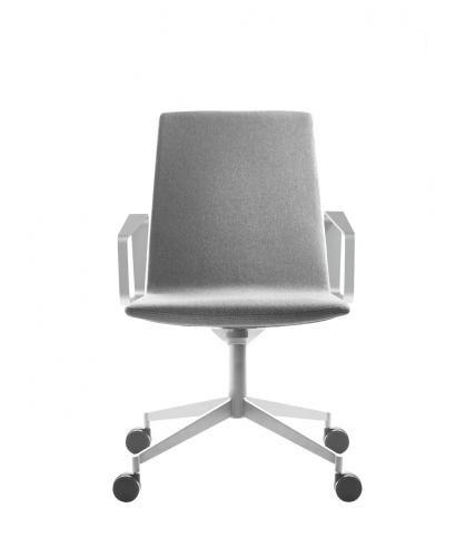 sedia da conferenza moderno / imbottito / con braccioli / con rotelle