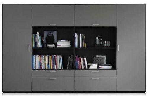 libreria alta / moderna / per ufficio / in legno