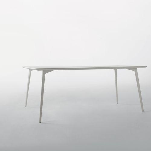 tavolo moderno / in MDF / in alluminio / rettangolare