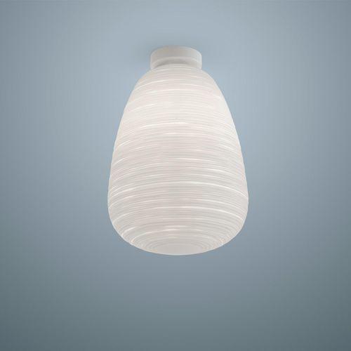 plafoniera moderna / in vetro soffiato / in metallo laccato / LED