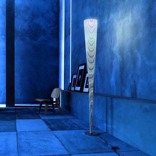 colonna luminosa design originale / in acciaio / in tessuto di vetro / LED