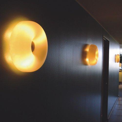 applique moderna / in metallo / in vetro soffiato / LED