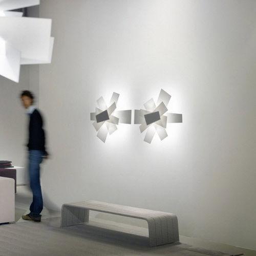 applique moderna / in metallo laccato / in metacrilato / LED