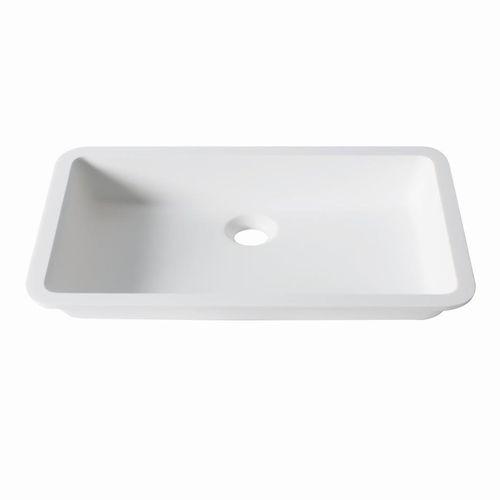 lavabo sottopiano / rettangolare / in Krion® / moderno