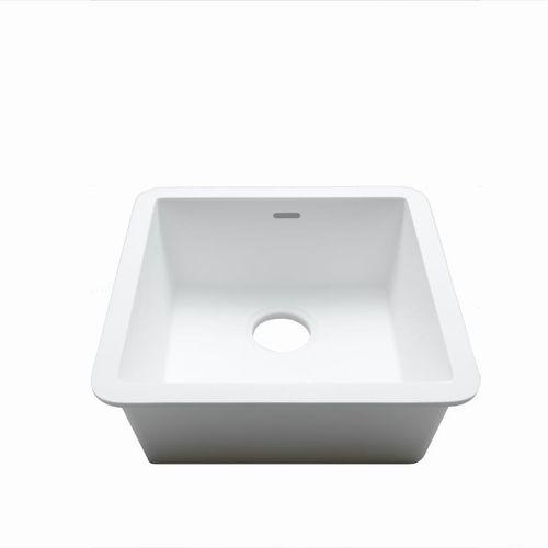 lavello a 1 vasca / in Krion® / quadrato / contract
