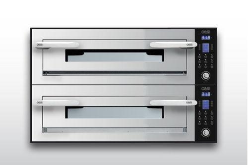 Forno professionale / elettrico / a doppia alimentazione / a 2 camere OPTYMO CONCEPT: 635S/2 INOX OEM - Pizza System