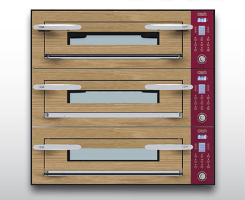 Forno elettrico / professionale / a pizza / a 3 camere OPTYMO CONCEPT: 635S/3 WOOD OEM - Pizza System