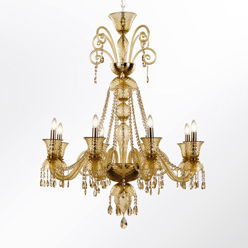 lampadario in stile / in vetro soffiato / in vetro di Murano / LED
