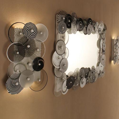 applique design originale / in vetro soffiato / in vetro di Murano / LED