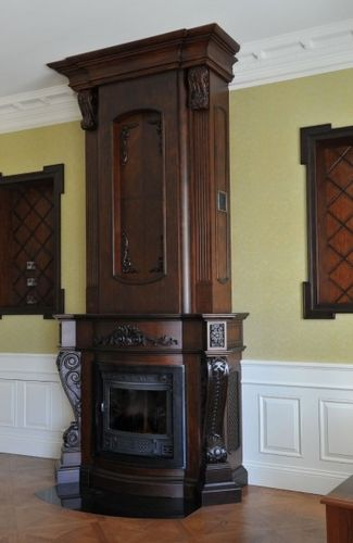 cornice per camino classica / in legno