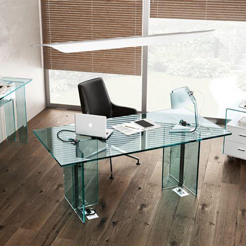 scrivania direzionale / in vetro / moderna
