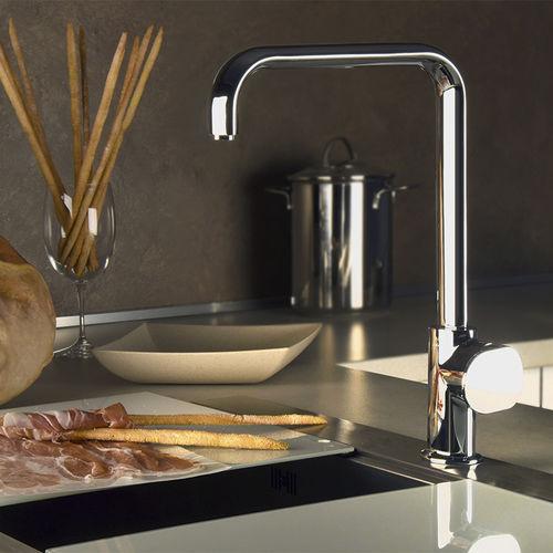 miscelatore in metallo cromato / da cucina / 1 foro