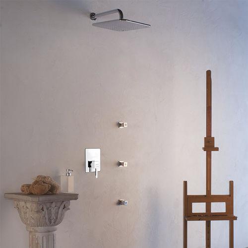 miscelatore da doccia / da incasso / in metallo cromato / in acciaio