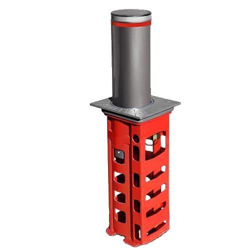 colonna di controllo accessi / in metallo / a scomparsa / automatica