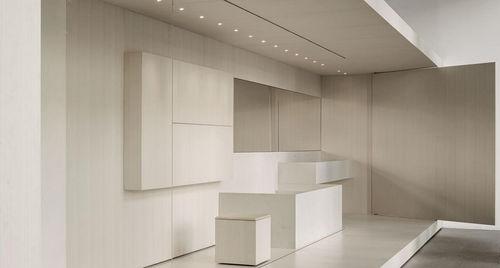 lavabo sospeso / rettangolare / in marmo / moderno