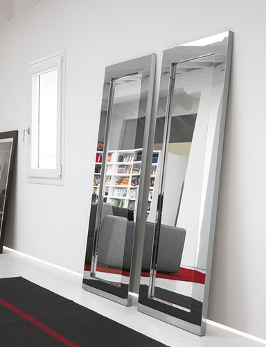 Specchio a muro / moderno / rettangolare / in acciaio inox TITANIO Riflessi