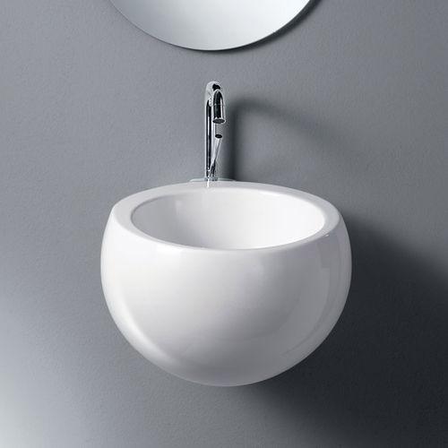lavandino sospeso / tondo / in ceramica