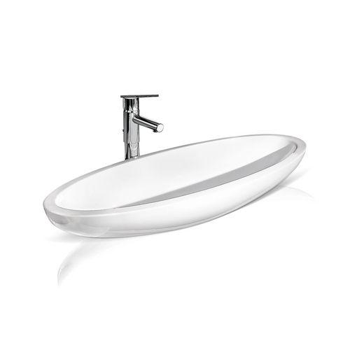 lavabo da appoggio / ovale / in ceramica / moderno