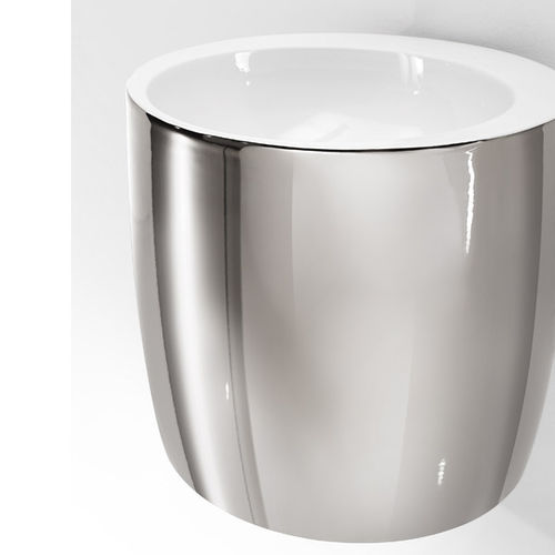 lavabo sospeso / tondo / in ceramica / design originale