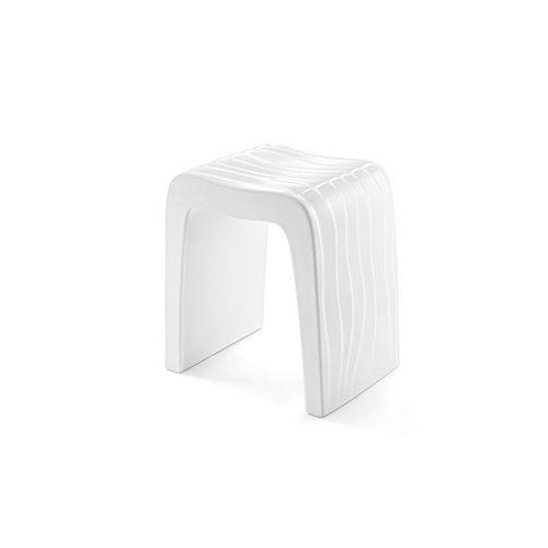 sgabello da doccia in plastica / contract / bianco
