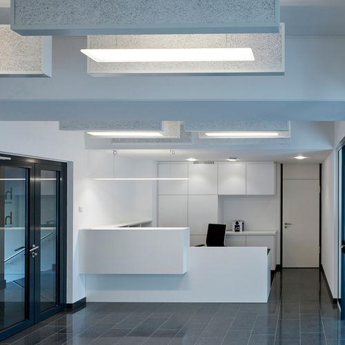 luce a sospensione / LED / lineare / in vetro acrilico
