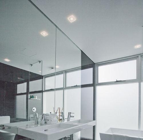 downlight sporgente / per ambienti umidi / LED / quadrato
