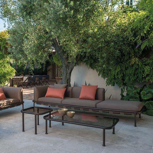 cuscino per divano / per esterni / quadrato / a tinta unita