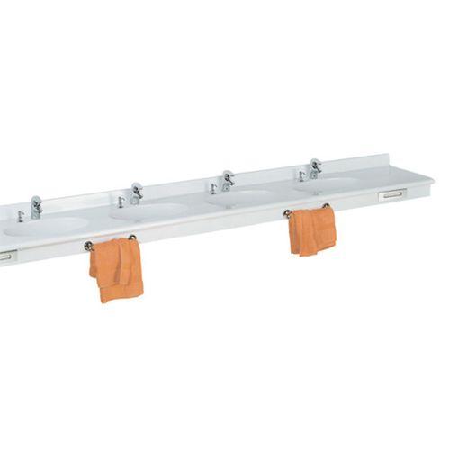 lavabo multiplo / sospeso / rettangolare / in Pietraluce®