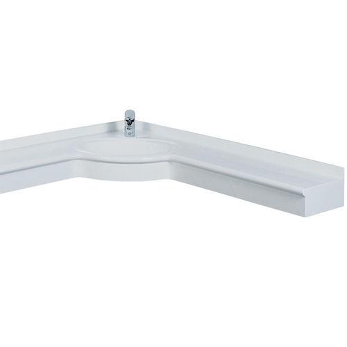 lavabo sospeso / d'angolo / in Pietraluce® / moderno