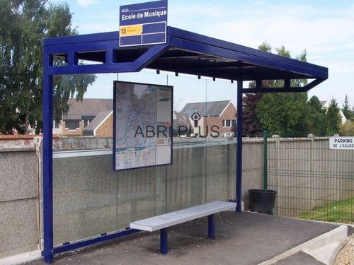 pensilina per fermata d'autobus in metallo / in vetro
