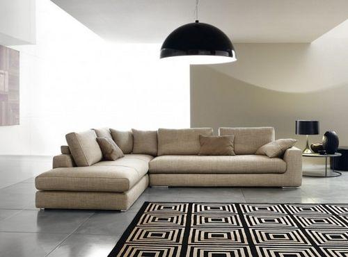 divano d'angolo / modulare / moderno / in legno