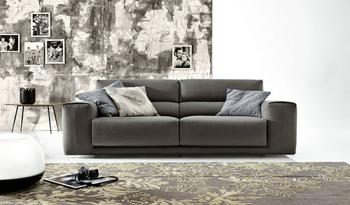 divano d'angolo / modulare / moderno / in pelle