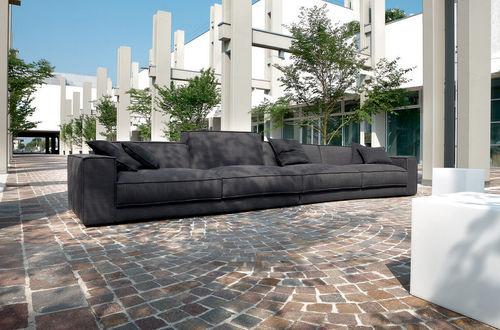 divano d'angolo / modulare / moderno / in ecopelle