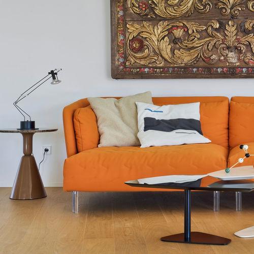 cuscino per divano / quadrato / a motivi / a tinta unita