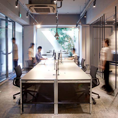 scrivania per open space / in MDF laccato / in laminato / in metallo
