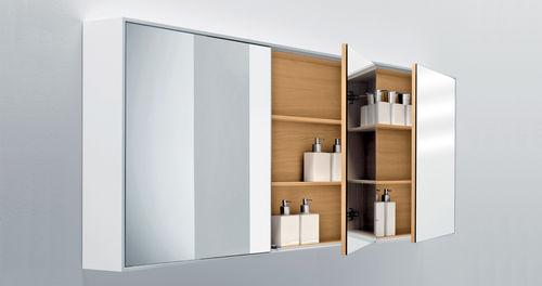 mobile da bagno moderno / in legno / da parete / con cassetti