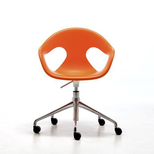 sedia visitatore moderna / con braccioli / con rotelle / con base a stella