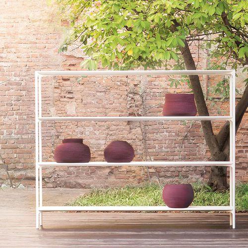 Scaffale moderno / in acciaio con vernice di protezione / in calcestruzzo / da giardino PLANO by Francesco Rota PAOLA LENTI
