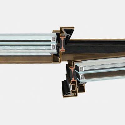 profilato per finestra in acciaio / a taglio termico