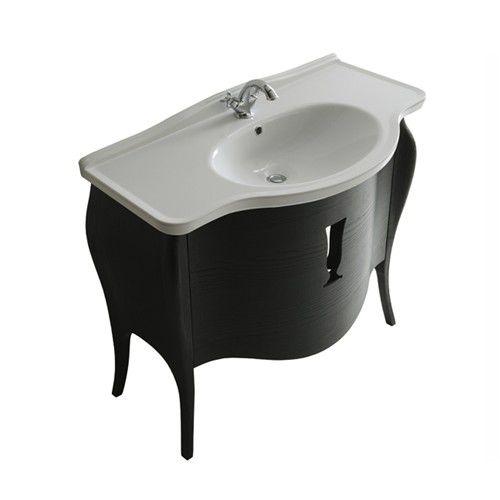mobile lavabo sospeso / in legno / in MDF / classico